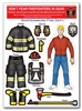Dont Fear Firefighters in Gear Sticker Sheet