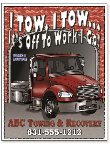 Tow Truck Coloring Book