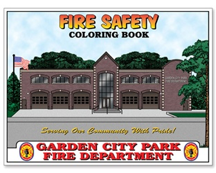 Custom Coloring Books Fire Safety