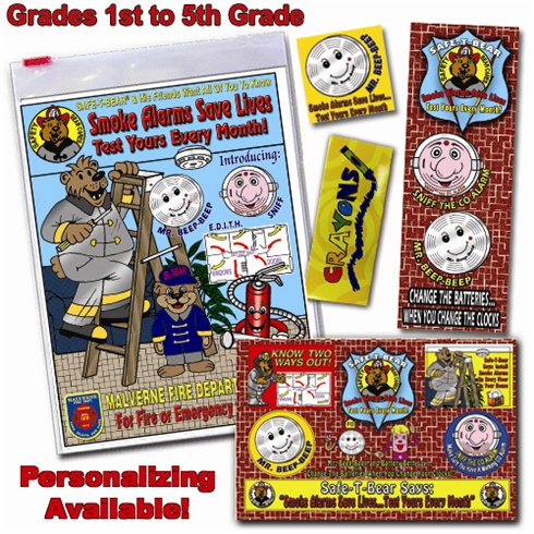 Classroom  Zip-Kits 1st - 5th Graders  2014 Fire Safety Theme