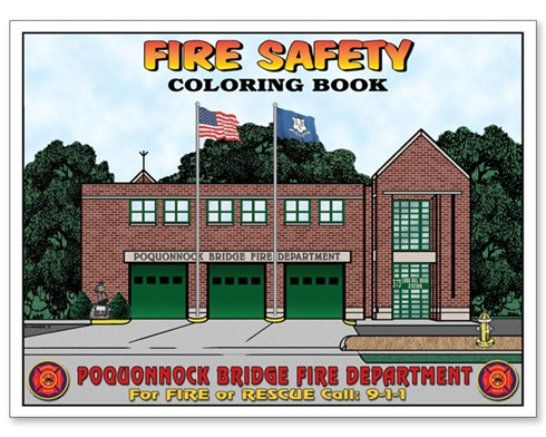 Custom Coloring Books - Fire Safety