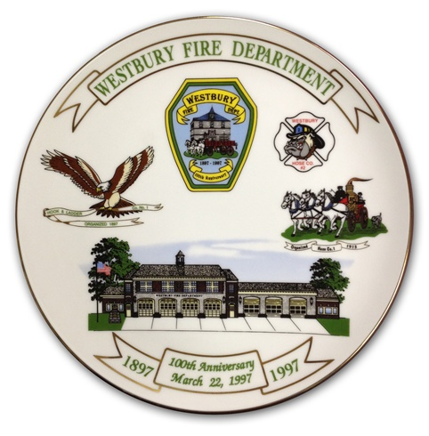 10-1/4 Inch Commemorative Porcelain Plate