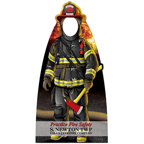 "Junior Firefighter Photo Prop - 37"" X 73"" - Large"