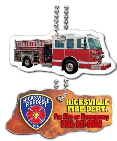 Fire Engine  Full Color Dog Tags