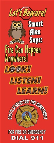 Bookmark - Fire Can Happen Anywhere...LOOK LISTEN LEARN!