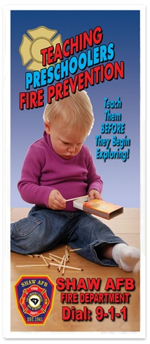 Teaching PreSchoolers Fire Prevention Brochure