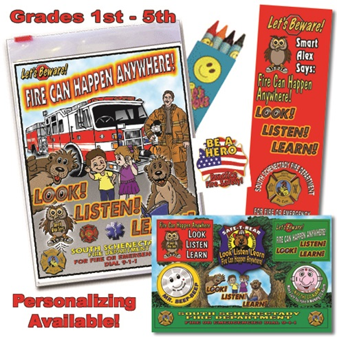 Classroom Zip-Kits 1st - 5th Graders 2018 Fire Safety Theme