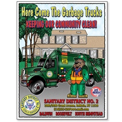 Here Come The Garbage Trucks - Keeping Our Community Clean Coloring Book