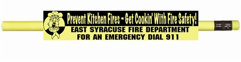 Neon Pencils - Fire Safety Theme Prevent Kitchen Fires - Get Cookin' With Fire Safety!  -  Personalized