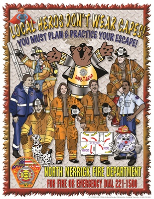 "Safe-T-Bear's 2019 Fire Prevention Week Theme, ""LOCAL HEROS DONT WEAR CAPES"" You Must Plan and Practice Your Escape! Coloring Book"