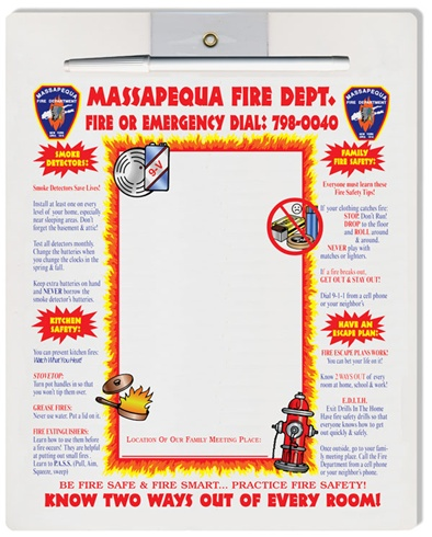 Magnetic Refrigerator Fire Safety Message Boards