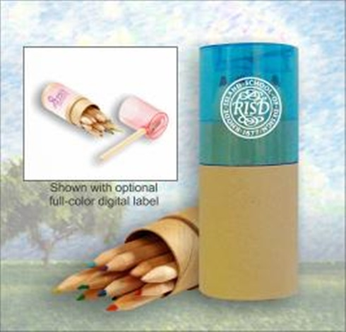 Colored Pencil Set in Tube with Sharpener