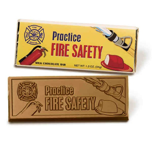 Chocolate Bar With Fire Safety Message