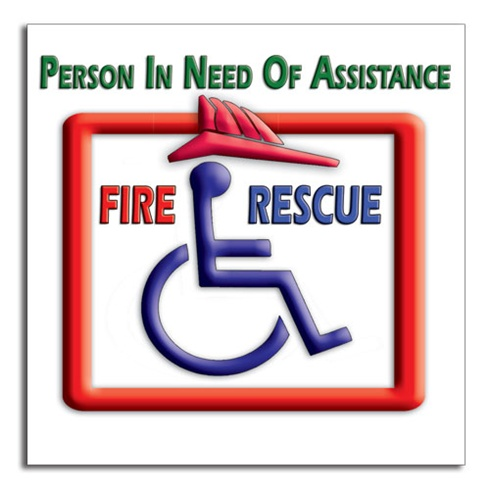 Person In Need Of Assistance Finder - Full Color - Stock