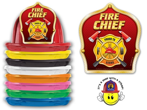 Plastic New Design Fire Helmets / Hats - Stock Shields Design