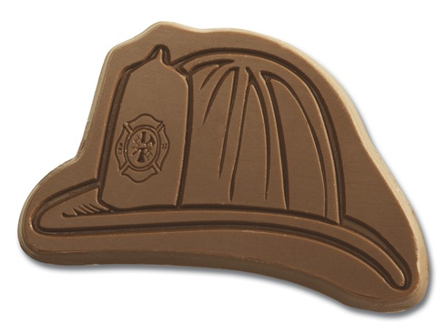 Fire Hat Chocolate Shape