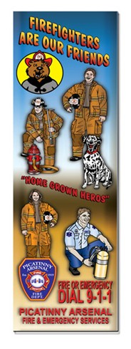 Bookmark - Firefighters Are Our Friends!