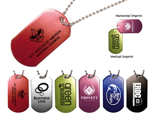 Dog Tags - One Color Imprint