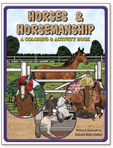 Horses and Horsemanship Adult Coloring Book
