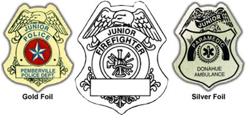 Firefighter Badge Sticker