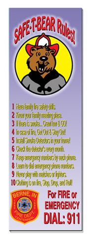 Bookmark - Safe-T-Bear's Rules
