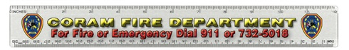 12 Inch Double Beveled Plastic Ruler Full Color Imprint
