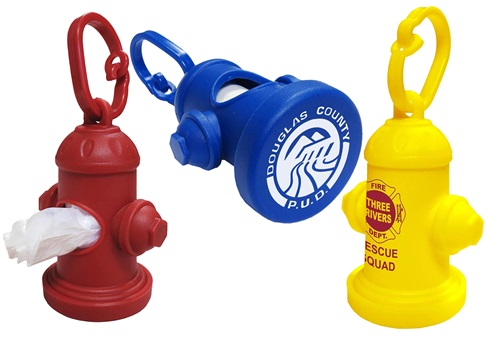 Fire Hydrant Shaped Pet Waste Dispenser- One Color Imprint