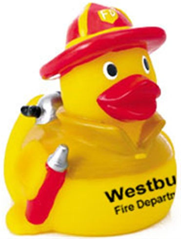 Rubber Firefighter Duck With Red Hat