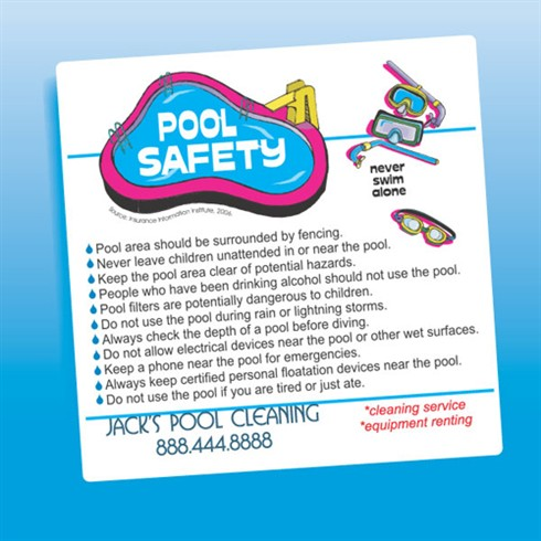 Pool Safety  Magnet