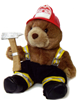 Fireman Kirby Bear with Axe Plush Toy