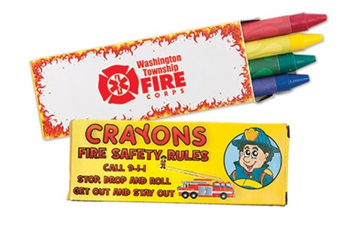Fire Safety Rules Crayons - Custom