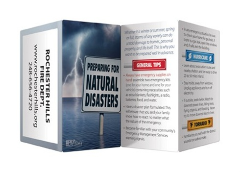 Key Points - Preparing for Natural Disasters