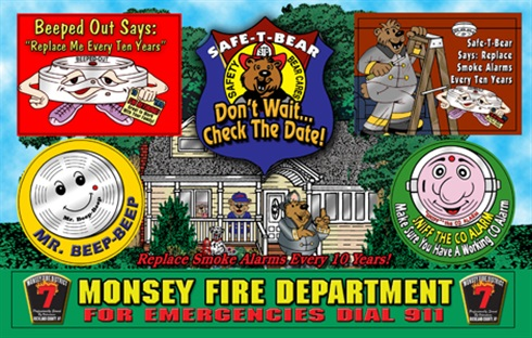 Replace Your Smoke Alarms Every Ten Years Sticker Sheet - Personalized Sitcker Sheet
