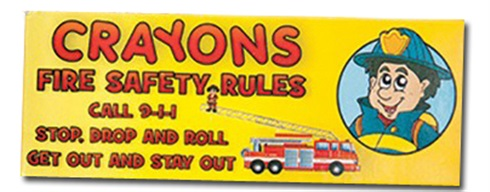 Fire Safety Rules Crayons - Stock
