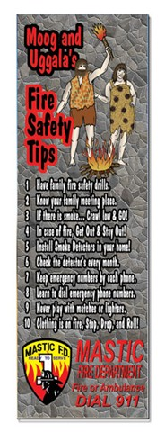 Bookmark - Caveman Fire Safety