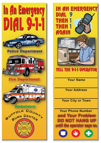 Bookmarks - In An Emergency Dial 9-1-1
