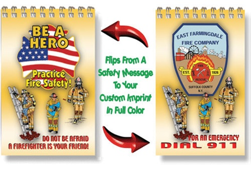 2 Dimentional Note Pad - Be A Hero Practice Fire Safety! Theme