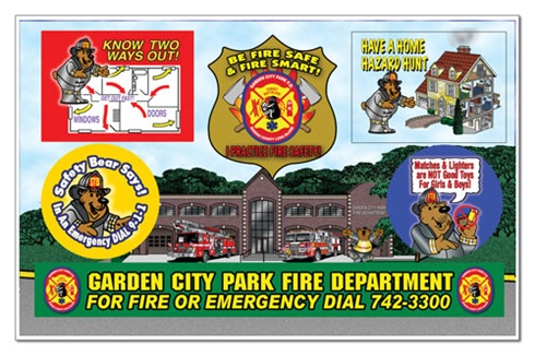 Fire Safety Sticker Sheet - Totally Custom- Full Color