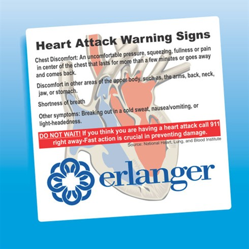Heart Attack Signs Magnet