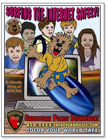 Surfing The Internet Safely! Coloring Book