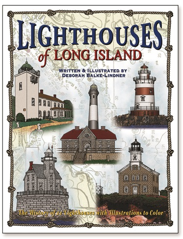 Lighthouses of Long Island  Adult Coloring Book