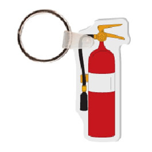 Soft Vinyl Key Tags - Fire Extinguisher - Full Color