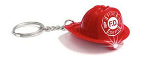 Fireman's Hat Molded Key LED Light