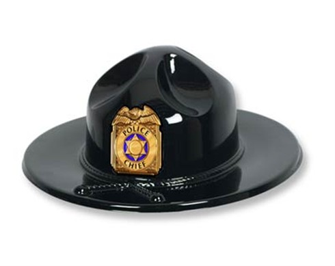 Custom  Trooper or Police Chief Hat