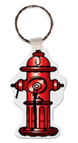 Soft Vinyl Key Tags - Fire Hydrant - Full Color