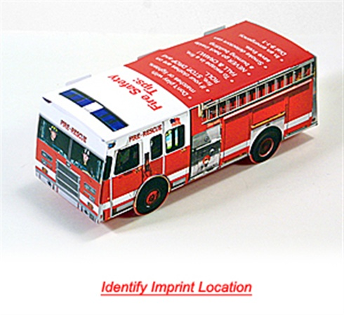 Foldable Die-Cut Fire Truck