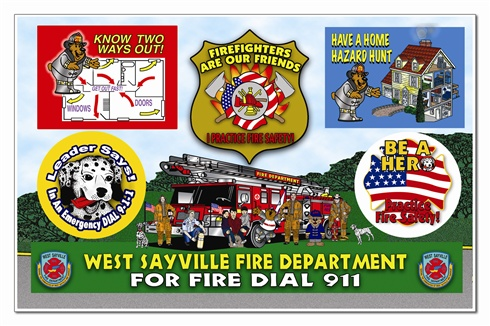 Firefighters Are Our Friends Sticker Sheet - Full Color Custom Imprint