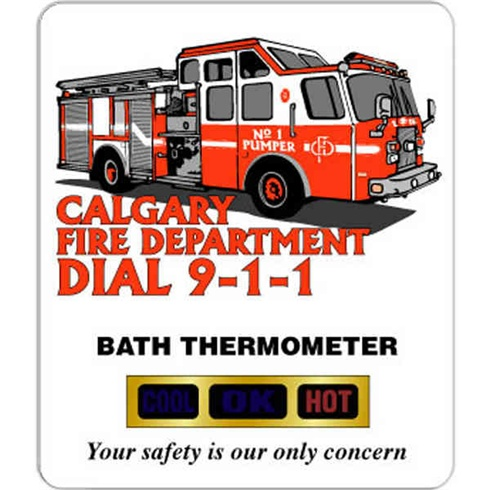 One Color Imprint - Bath Thermometer
