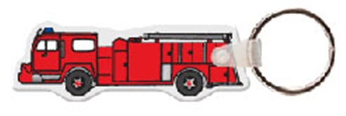 Soft Vinyl Key Tags - Fire Truck - Full Color