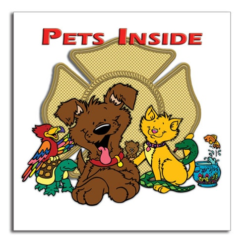 Pets Inside - Full Color - Stock